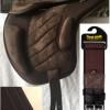 saddle girth and sleeve brown